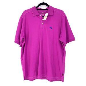 Tommy Bahama Islandzone Polo Shirt Sz M Fuschia